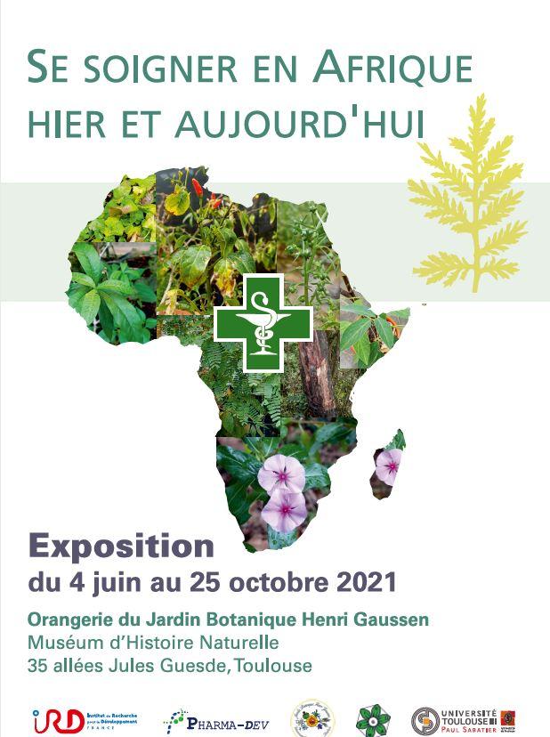 """Affiche Exposition """"Se soigner en Afrique hier et aujourd'hui"""""""